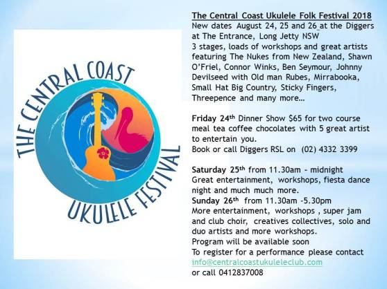 Central Coast Ukulele Festival 2018 Central Coast Ukulele Club